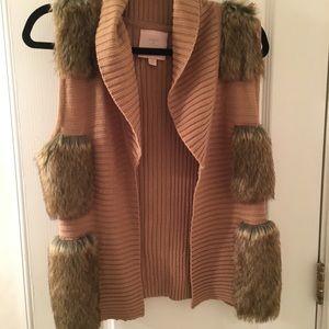 Faux Fur / Knit Vest